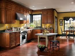 Traditional Kitchen Designs Interior Design Cozy Wood Tile Flooring With Exciting Schrock