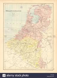 Luxembourg Map Benelux U0027holland U0026 Belgium U0027 Railways Luxembourg Bartholomew