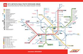 Metro Lines Map by Official Map Milan Metro And Suburban Rail Transit Maps