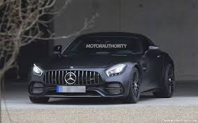 2018 mercedes amg gt c spy shots