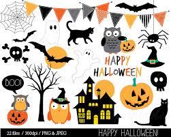 halloween clipart pumpkin halloween clipart haloween owl clip art bunting spider