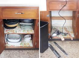 convert a cabinet into a pull out trash bin u2013 a beautiful mess