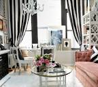 Stylish Delightful Living Room Gray Black White Pink Feminine ...