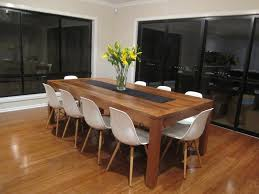 Timber Dining Table White Chairs Wood Furniture Stores Melbourne - Timber kitchen table