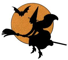 Halloween Witch Craft Ideas by Vintage Halloween Clip Art Witch With Moon Vintage Halloween