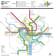 Washington Dc Usa Map by Washington D C Subway Map Rand