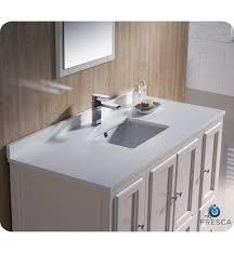 Fresca Oxford  Traditional Bathroom Vanity Antique White Finish - 48 bathroom vanity antique white