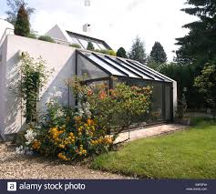 Modern Conservatory Glass Conservatory Extension On Modern White French House With