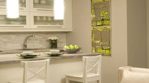 white and green kitchens copper backsplash on stove corner storage