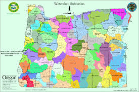 Oregon Map by Oregon Watersheds The Link Actually Goes To The Larger Version Of