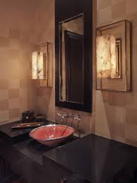 very simple powder room of guest bathroom idea with ball lights