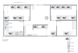 Design A Home Network Connected By An Ethernet Hub Network Layout Floor Plans How To Create A Network Layout Floor