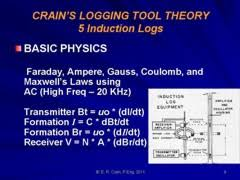 All induction logs and electromagnetic propagation logs are designed upon the principles of Maxwell     s Laws of electromagnetism  You don     t need to know the     Crain s Petrophysical Handbook