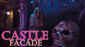 scary castle themed halloween yard haunt display youtube