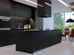 alluring black contrast kitchen design most kitchens with