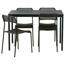 Dining Room Sets IKEA - Black dining table for 4