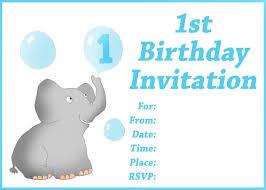 Create Invitation Card Free 1st Birthday Party Invitation Cards Iidaemilia Com
