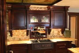 kitchen beautiful tile backsplash ideas for white cabinets with amazing rustic backsplash kitchen ideas beige stone brown varnished wood cabinet