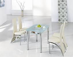 Glass Rectangle Dining Table Dining Room Round Shaped Glass Dining Table With Elegant White
