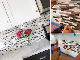 top diy kitchen backsplash ideas random glass tile mosaic