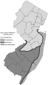 Map Nj Njdep Division Of Fish U0026 Wildlife Migratory Bird Hunting Zones