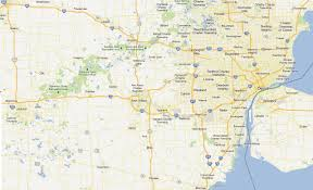 Detroit Michigan Map by Southeastern Michigan Map Michigan Map