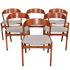 Teak Dining Room Set Set Of 6 Ribbon Back Teak Dining Chairs By Dux Teak Dining