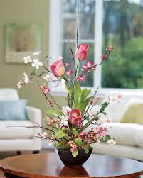 dining room unique decorating artificial flower arrangements for