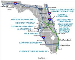 Map Of Florida Cities And Towns by Florida U0027s Turnpike The Less Stressway