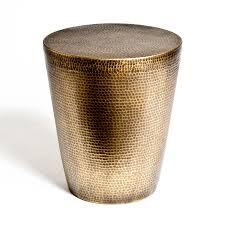 Brass Home Decor by Brass Drum Side Table Mitchell Hill Charleston Home Décor Store