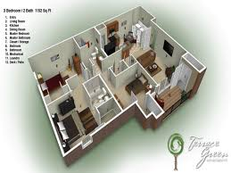 House For Plans by 3 Bedroom 2 Bath House Home Planning Ideas 2017