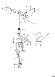 mercury marine v 200 hp xri efi swivel bracket u0026 steering arm parts