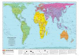 Egypt On A World Map by Peters Projection Map Widely Used In Educational And Business Circles