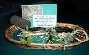 handmade bath salts foot soak gift basket bathtub yoga