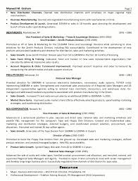 Sample Resume Senior Sales Marketing Executive Page