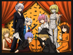 orange halloween hd background touhou horidei images touhou halloween hd wallpaper and background