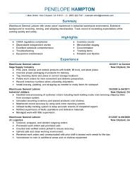 Labourer Job Resume