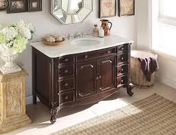 Adelina  Inch Antique Bathroom Vanity Dark Cherry Finish White - 48 bathroom vanity antique white