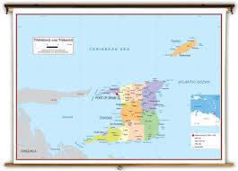 Spain Political Map by Trinidad And Tobago Political Educational Wall Map From Academia Maps