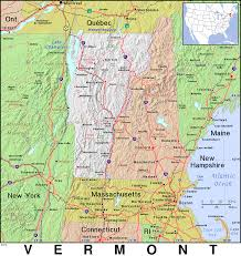 Map Of The New England States by Vt Vermont Public Domain Maps By Pat The Free Open Source