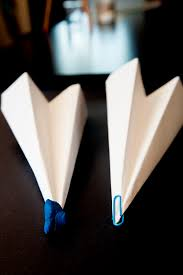 a paper airplane Paper airplane with paper