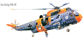 helicopters sea king mk 41 painting art aviation 6680x3340