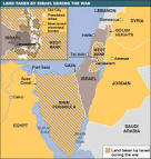 Land taken by Israel as a result of the war
