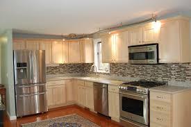 kitchen grey carpet stainless steel refrigerator brown wood