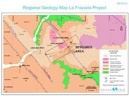 Sierra Madre Occidental Map La Frazada Nayarit Mexico Silver One Resources Inc