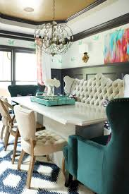 top 25 best dining room banquette ideas on pinterest kitchen dining room tufted bench teal wingback chairs