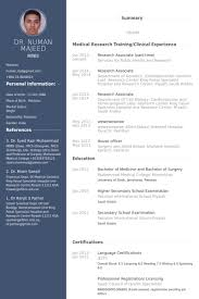 Research Associate  Part Time  Resume Samples VisualCV