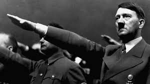 Adolf Hitler giving the Nazi