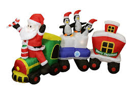 The Home Depot Christmas Decorations Christmas Inflatables Decorations Display Santa Claus Snowman
