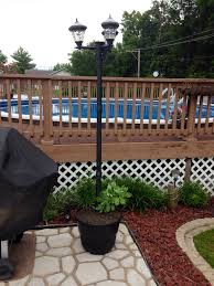 Patio Lights Outdoor by Outdoor Solar Lamp Post Lighting Patio Lighting Poolside Light